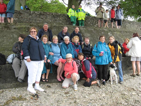 Staff and friends at last years Morcambe Bay walk