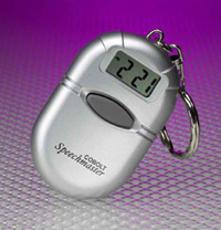 Small talking clock fob attachment for a key ring