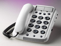 Big button corded telephone