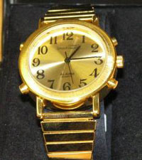 Cobolt talking watch in a gold finish