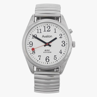 Extra large talking watch with silver strap